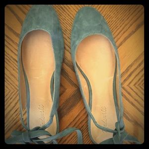 Madewell ankle wrap flats